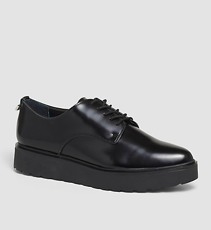 CALVIN KLEIN Leather Lace-Up Shoes - Victorina 00000E1624BLK