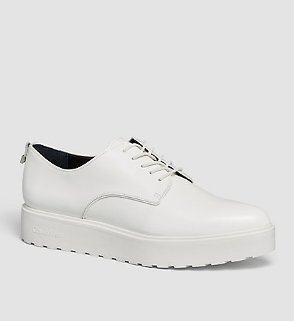CALVIN KLEIN Leather Lace-Up Shoes - Victorina 00000E1624PLI