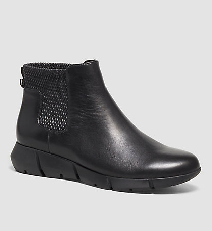 CALVIN KLEIN Leather Ankle Boots - Waldina 00000E1992BLK