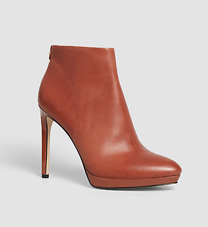 CALVIN KLEIN Leather Ankle Boots - Sandria 00000E2237BDY