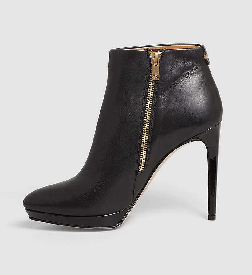 leather zip ankle boots calvin klein 174 00000e2237