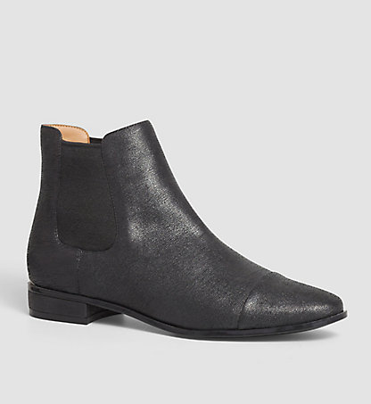 CALVIN KLEIN Leather Ankle Boots - Finilla 00000E2559LDB