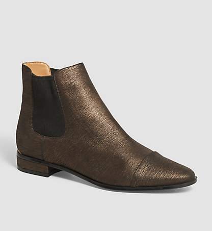 CALVIN KLEIN Leather Ankle Boots - Finilla 00000E2559TNB