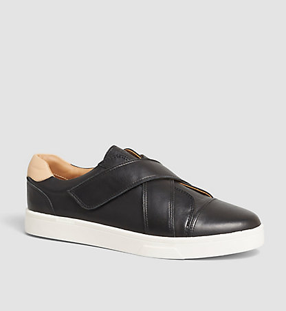 CALVIN KLEIN Leather Slip-On Shoes - Issie 00000E2622BSM