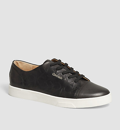 CALVIN KLEIN Leather Sneakers 00000E2812BLK