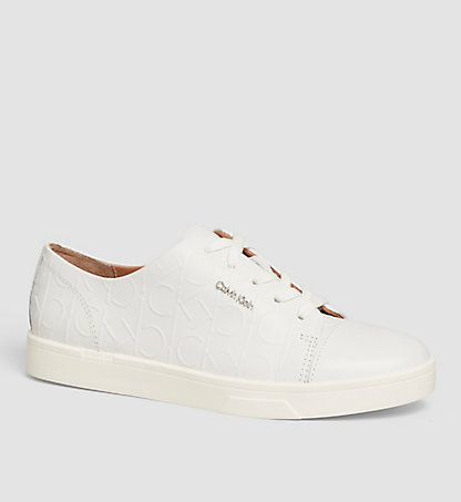 CALVIN KLEIN Leather Sneakers 00000E2812WHT