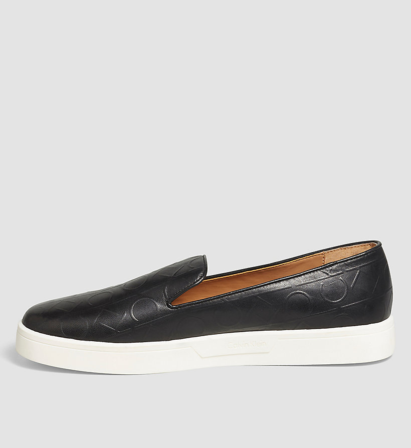 CALVINKLEIN Leather Slip-On Shoes - BLACK/BLACK - CALVIN KLEIN SHOES & ACCESSORIES - detail image 2