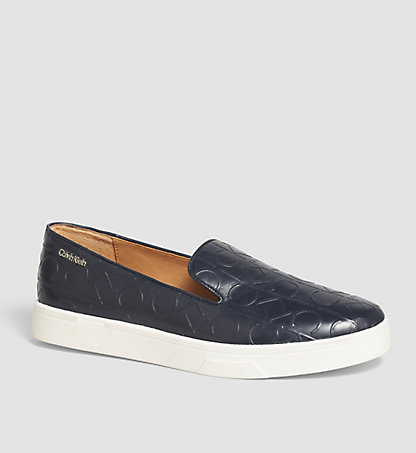 CALVIN KLEIN Leather Slip-On Shoes 00000E2813DPY