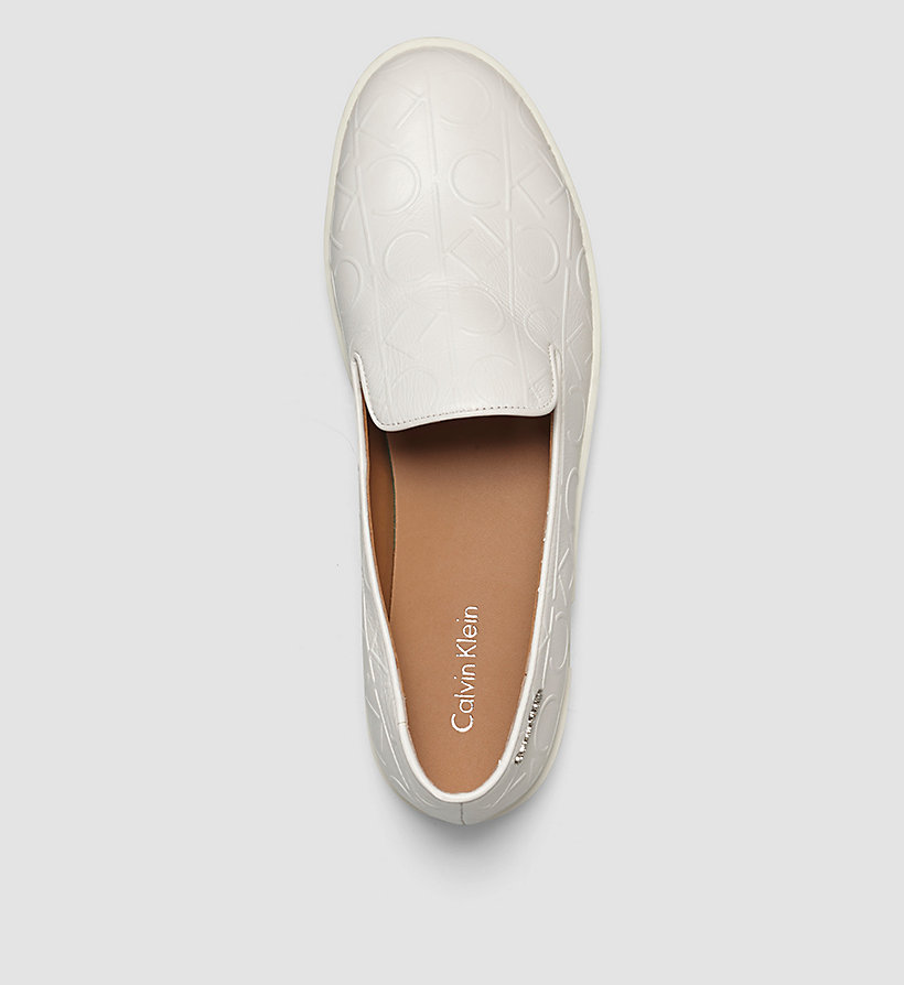 CALVINKLEIN Leather Slip-On Shoes - BLACK/WHITE - CALVIN KLEIN SHOES & ACCESSORIES - detail image 1