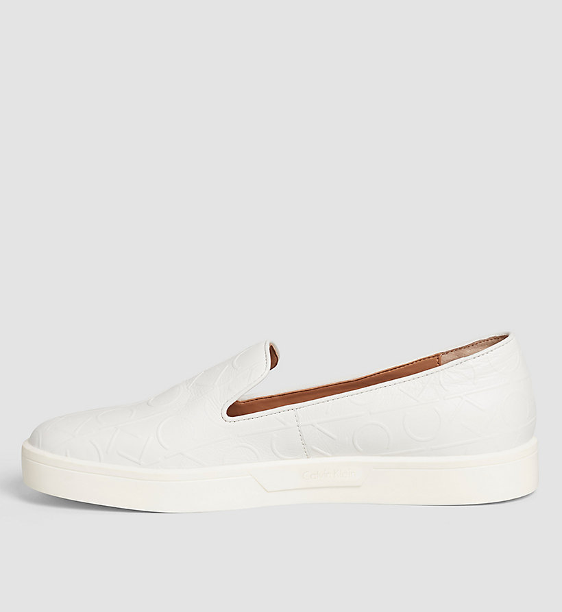 CALVINKLEIN Leather Slip-On Shoes - BLACK/WHITE - CALVIN KLEIN SHOES & ACCESSORIES - detail image 2