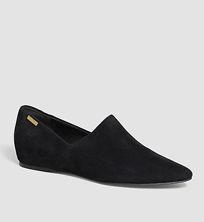 CALVIN KLEIN Suede Slip-On Shoes - Magna 00000E2872BLK