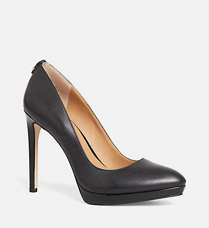 CALVIN KLEIN Leather Pumps - Suzzanne 00000E2980BLK