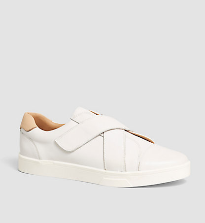 CALVIN KLEIN Leather Slip-On Shoes - Issie 00000E2990PTW