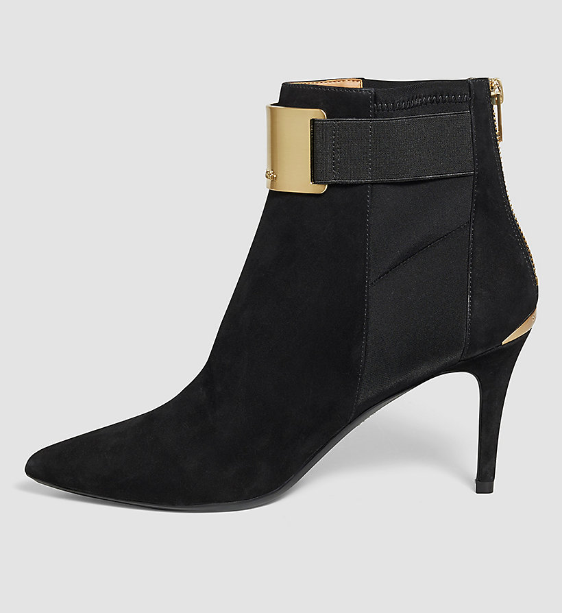 CALVINKLEIN Suede Zip Ankle Boots - BLACK - CALVIN KLEIN SHOES & ACCESSORIES - detail image 2