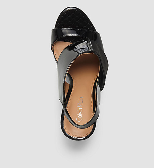 CALVINKLEIN Leather Sandals - BLACK/BLACK - CALVIN KLEIN SHOES - detail image 1