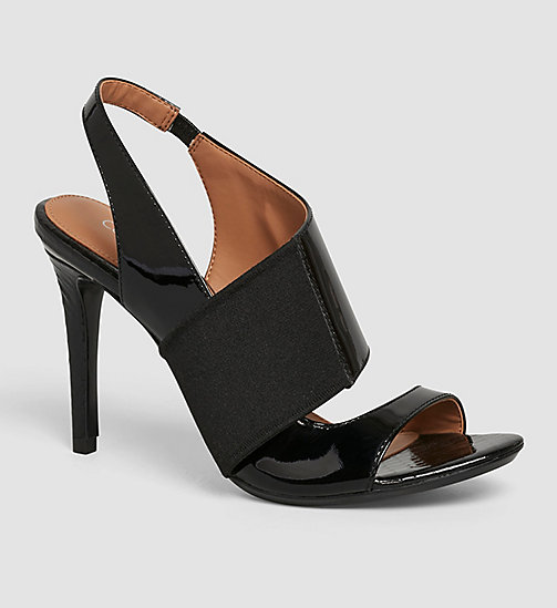 CALVINKLEIN Leather Sandals - BLACK/BLACK - CALVIN KLEIN SANDALS - main image