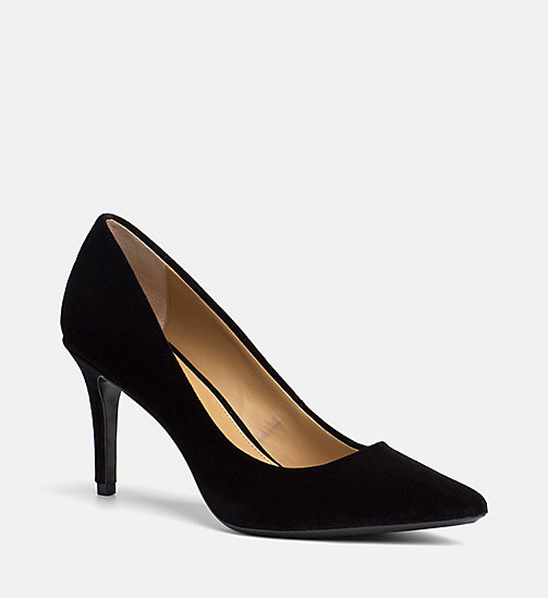 CALVINKLEIN Samt-Pumps - BLACK - CALVIN KLEIN HIGH-HEELS - main image