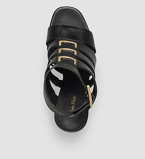 CALVINKLEIN Leather Sandals - BLACK/BLACK - CALVIN KLEIN SHOES & ACCESSORIES - detail image 1