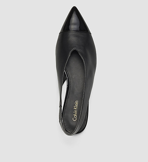 CALVINKLEIN Leather Pumps - BLACK/BLACK - CALVIN KLEIN SHOES - detail image 1