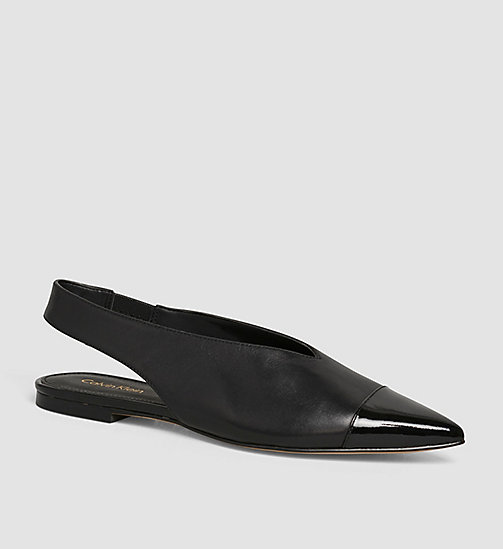 CALVINKLEIN Leather Pumps - BLACK/BLACK - CALVIN KLEIN SHOES - main image