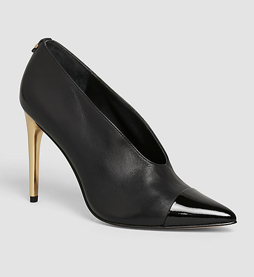 Leather Pumps - BLACK/BLACK - CALVIN KLEIN SHOES & ACCESSORIES - main image