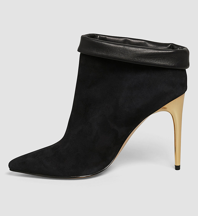 CALVINKLEIN Suede Leather Ankle Boots - BLACK/BLACK - CALVIN KLEIN SHOES & ACCESSORIES - detail image 2