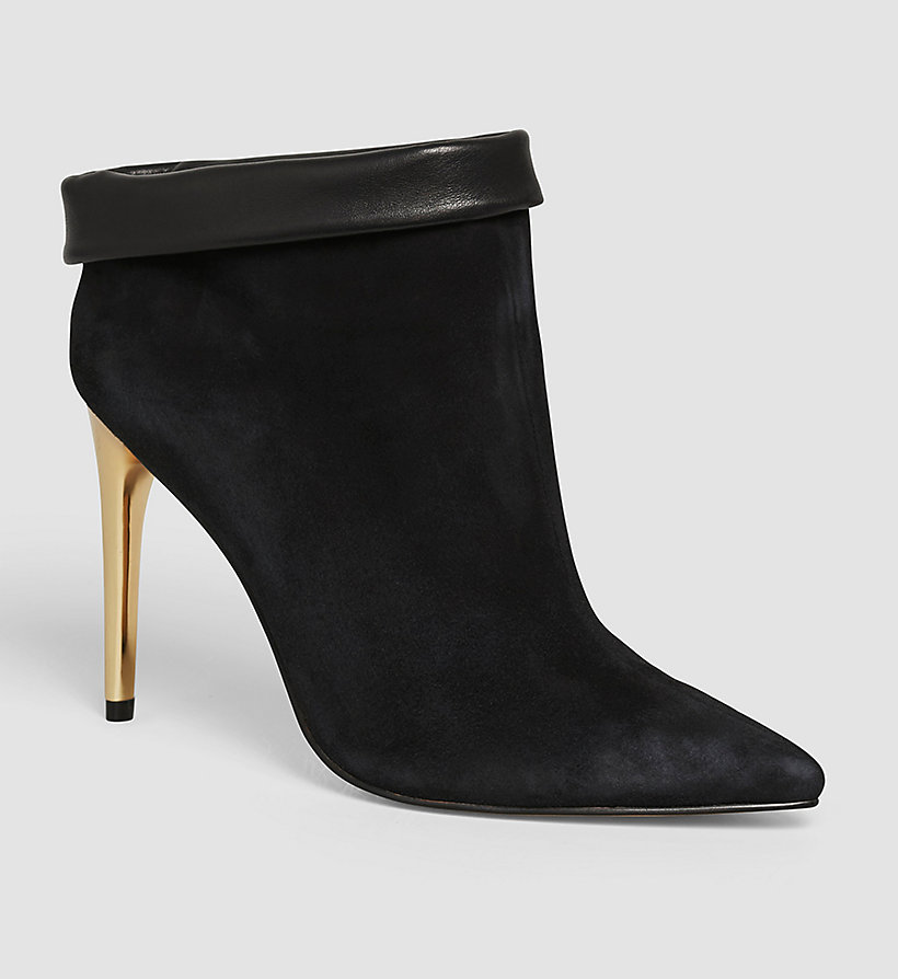 CALVINKLEIN Suede Leather Ankle Boots - BLACK/BLACK - CALVIN KLEIN SHOES & ACCESSORIES - main image