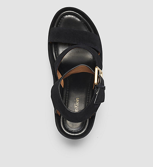 CALVINKLEIN Suede Sandals - BLACK/BLACK - CALVIN KLEIN SHOES - detail image 1