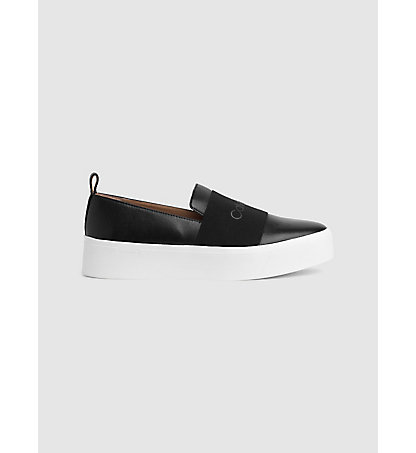 CALVIN KLEIN Leather Slip-On Shoes 00000E4745BLK