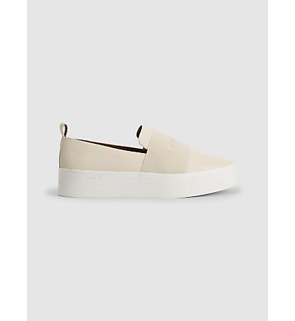 CALVIN KLEIN Leather Slip-On Shoes 00000E4745SFW