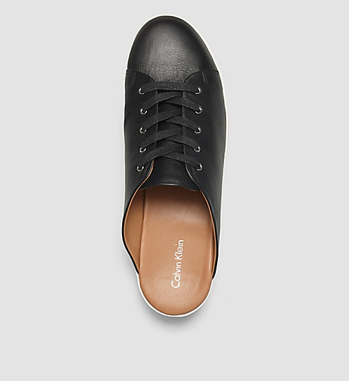CKJEANS Leather Slip-On Shoes - BLACK/BLACK - CALVIN KLEIN SHOES & ACCESSORIES - detail image 1