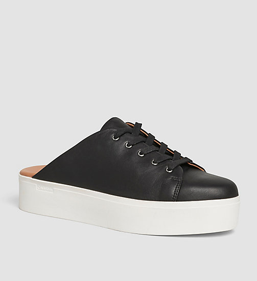 Leather Slip-On Shoes - BLACK/BLACK - CALVIN KLEIN  - main image