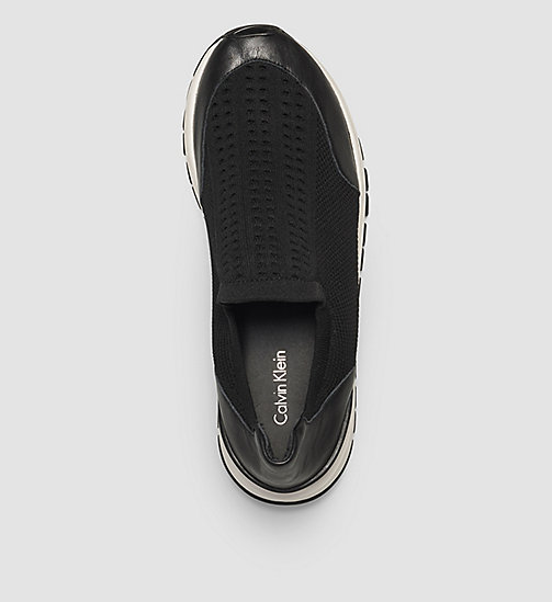 CALVINKLEIN Slip-On Shoes - BLACK/BLACK - CALVIN KLEIN FLAT SHOES - detail image 1