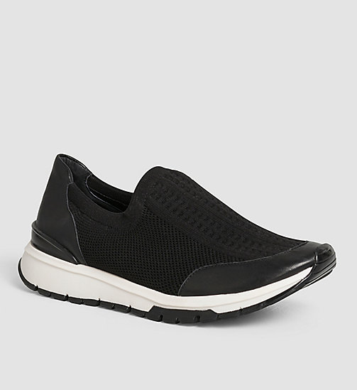 CALVINKLEIN Slip-On Shoes - BLACK/BLACK - CALVIN KLEIN FLAT SHOES - main image