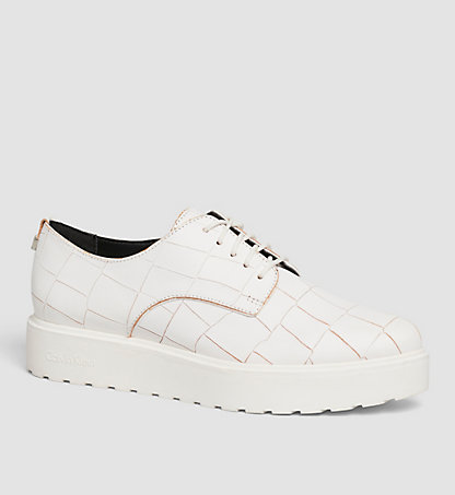 CALVIN KLEIN Leather Lace-Up Shoes 00000E4810PLI