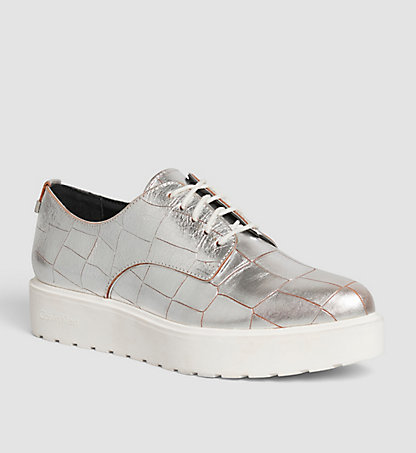 CALVIN KLEIN Leather Lace-Up Shoes 00000E4810SLV