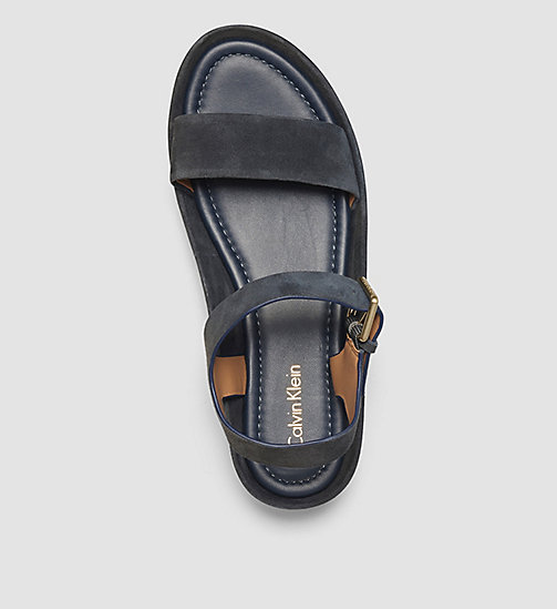CALVINKLEIN Suede Sandals - BEIGE/DEEP NAVY - CALVIN KLEIN SHOES - detail image 1
