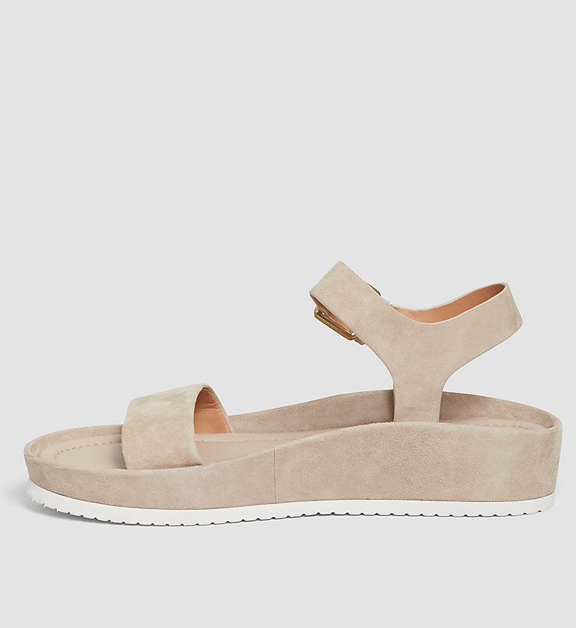 CALVINKLEIN Suede Sandals - BEIGE/DEEP NAVY - CALVIN KLEIN SHOES & ACCESSORIES - detail image 2