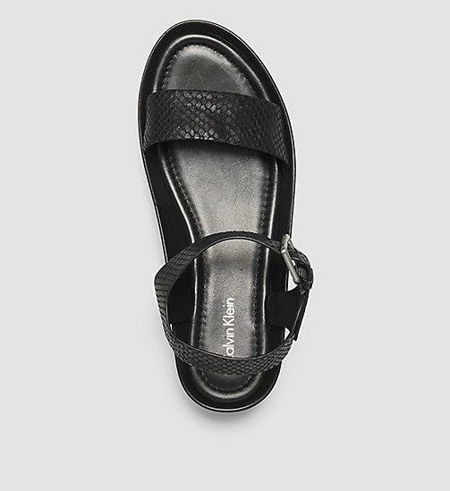 CALVINKLEIN Leather Sandals - BLACK /  BLACK - CALVIN KLEIN SANDALS - detail image 1