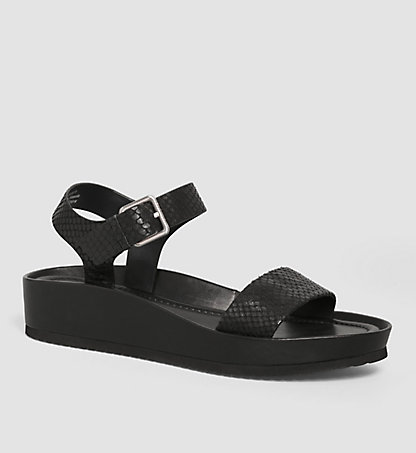 CALVIN KLEIN Leather Sandals 00000E4815BLK