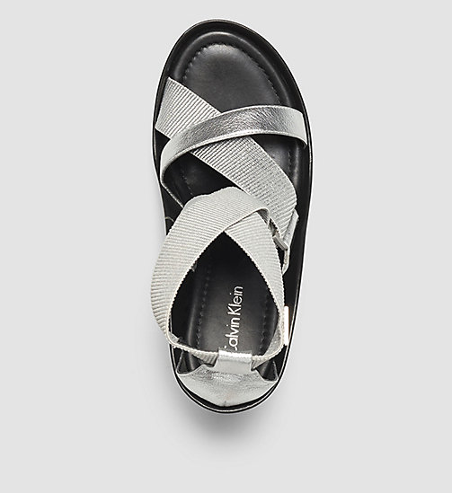 Metallic Sandals - SILVER/SILVER - CALVIN KLEIN SHOES & ACCESSORIES - detail image 1