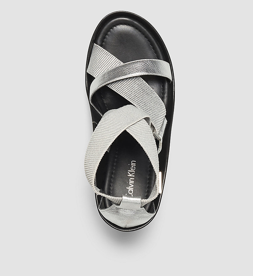 CALVINKLEIN Metallic Sandals - SILVER/SILVER - CALVIN KLEIN SHOES & ACCESSORIES - detail image 1