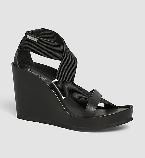 CALVINKLEIN Sandals - BLACK/BLACK - CALVIN KLEIN SHOES & ACCESSORIES - main image