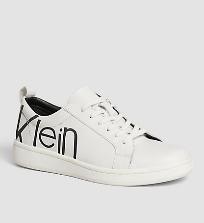 CALVIN KLEIN Leather Sneakers 00000E4835WBA