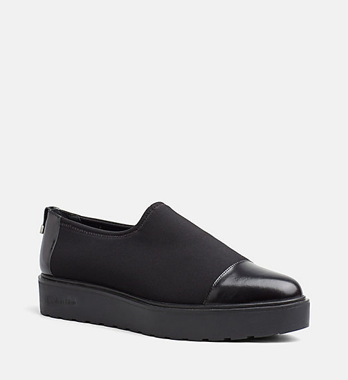 CALVINKLEIN Neoprene Slip-On Shoes - BLACK - CALVIN KLEIN FLAT SHOES - main image