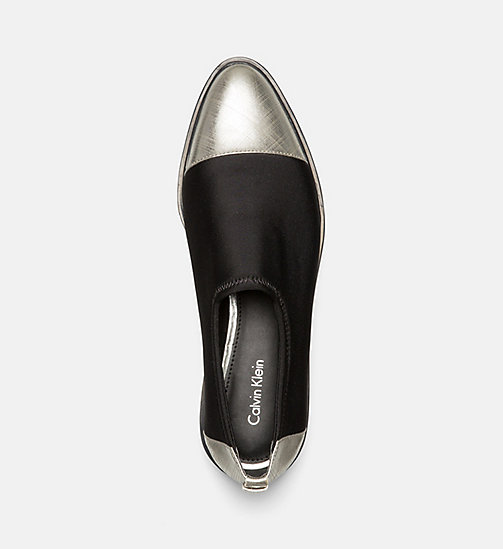 CALVINKLEIN Neoprene Slip-On Shoes - DARK SILVER/BLACK - CALVIN KLEIN FLAT SHOES - detail image 1