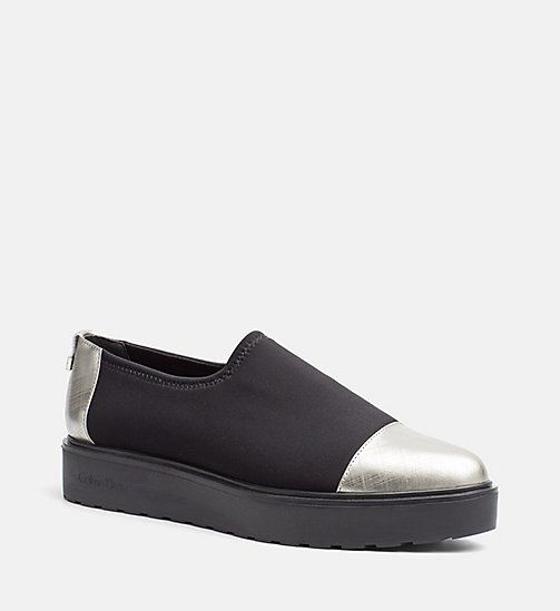 CALVINKLEIN Neoprene Slip-On Shoes - DARK SILVER/BLACK - CALVIN KLEIN FLAT SHOES - main image