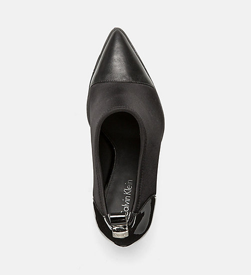 CALVINKLEIN Leather Neoprene Ankle Boots - BLACK - CALVIN KLEIN FLAT SHOES - detail image 1