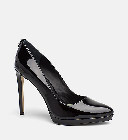 CALVINKLEIN Leather Pumps - BLACK - CALVIN KLEIN SHOES - main image