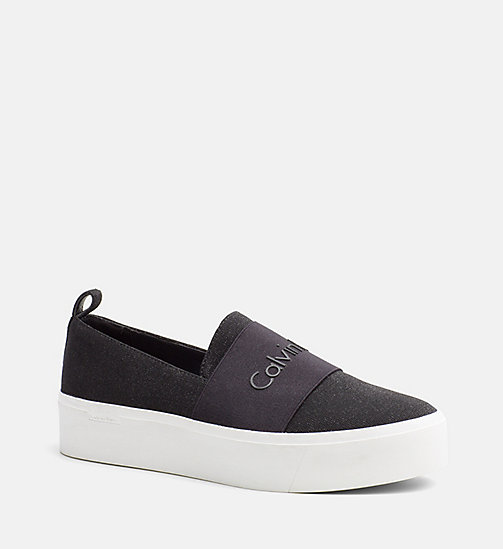 CALVINKLEIN Slip-On Shoes - BLACK - CALVIN KLEIN FLIP FLOPS - main image